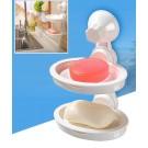 Decopatent® Zelfklevende Hangend Dubbele zeephouder 2 stuks Zeep - Douche - Badkamer - Keuken - Toilet - Zeepbakje - Zeepschaal