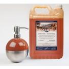 Vloeibare handzeep Orange 5 liter + Zeepdispenser Mat Chroom